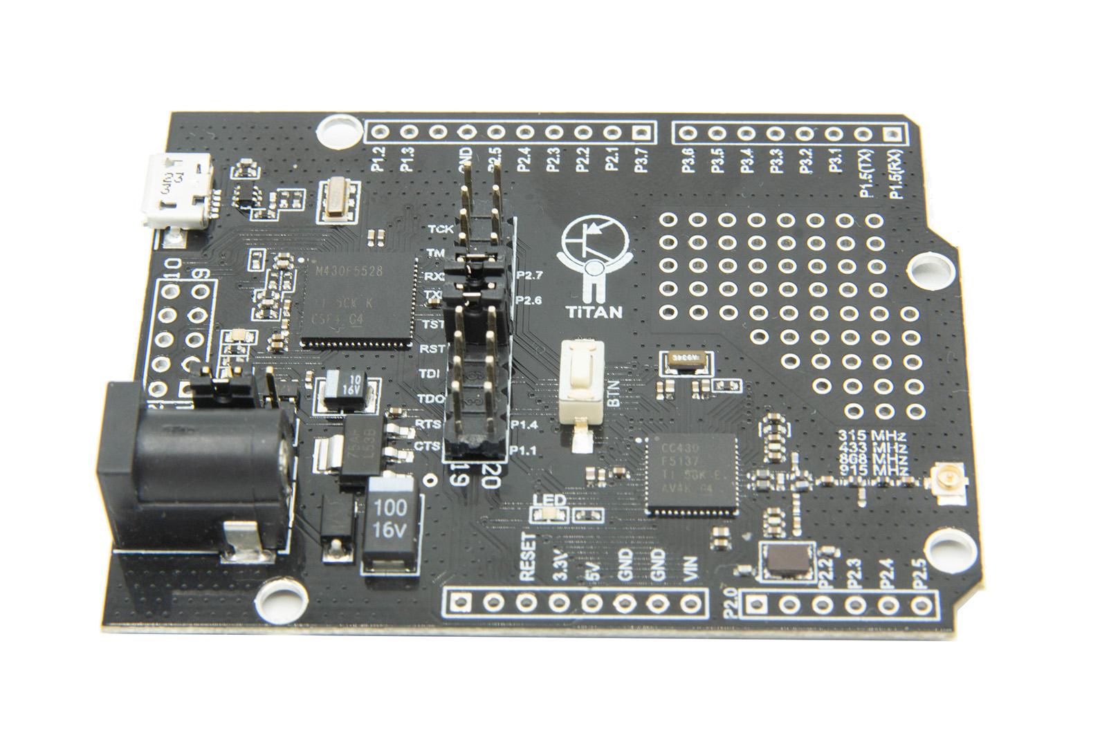 TiTAN development board based on CC430